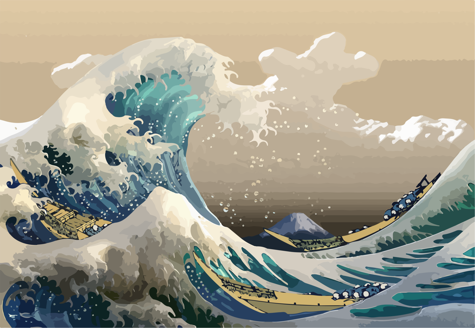 MODERN The Great Wave off Kanagawa by alvincapalad