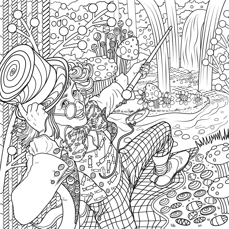 Roald Dahl A Marvellous Colouring Book Adventure Roalddahl Leobrown Coloring Books Coloring Book Pages Illustration
