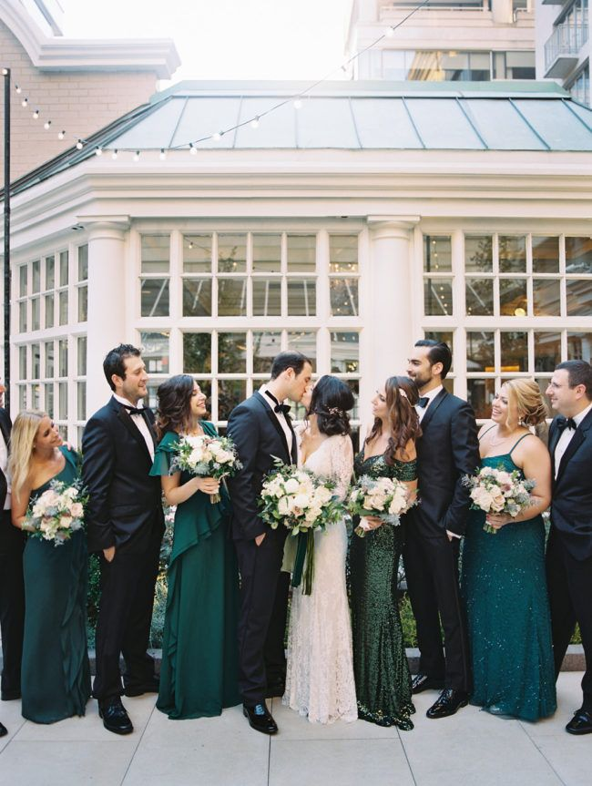 Gorgeous Green DC Wedding at The Fairmont Washington -   14 wedding Party green ideas