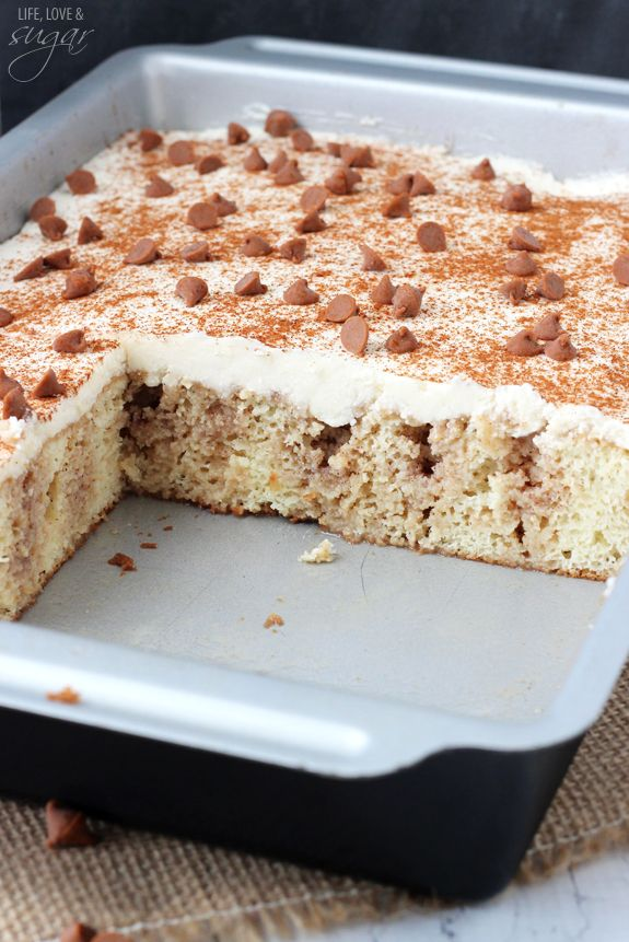 Cinnamon Roll Poke Cake | Moist & Delicious Cinnamon Cake Recipe