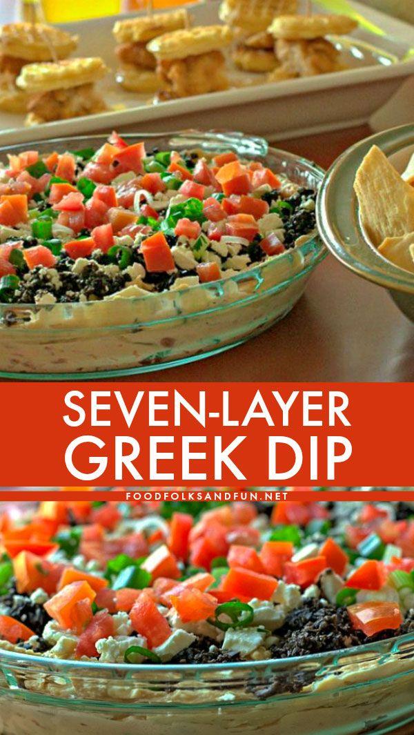 7 Layer Greek Dip Greek Dip Greek Layer Dip Recipes