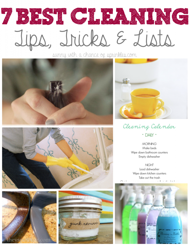 sunny with a chance of sprinkles 7 best cleaning tips tricks lists - Home Tips And Tricks