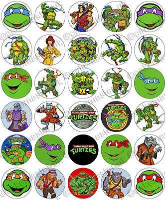 30 X Teenage Mutant Ninja Turtles Tmnt Edible Rice Wafer Paper Cupcake Toppers Ebay Ninja Turtles Ninja Turtles Birthday Party Teenage Mutant Ninja Turtles