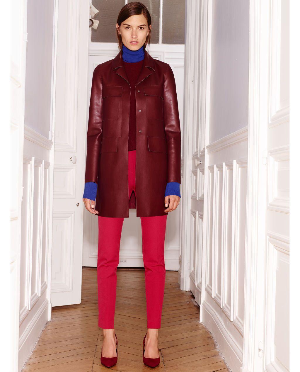 Burgundy, Poppy, and Cobalt Zara Fall fashion colors