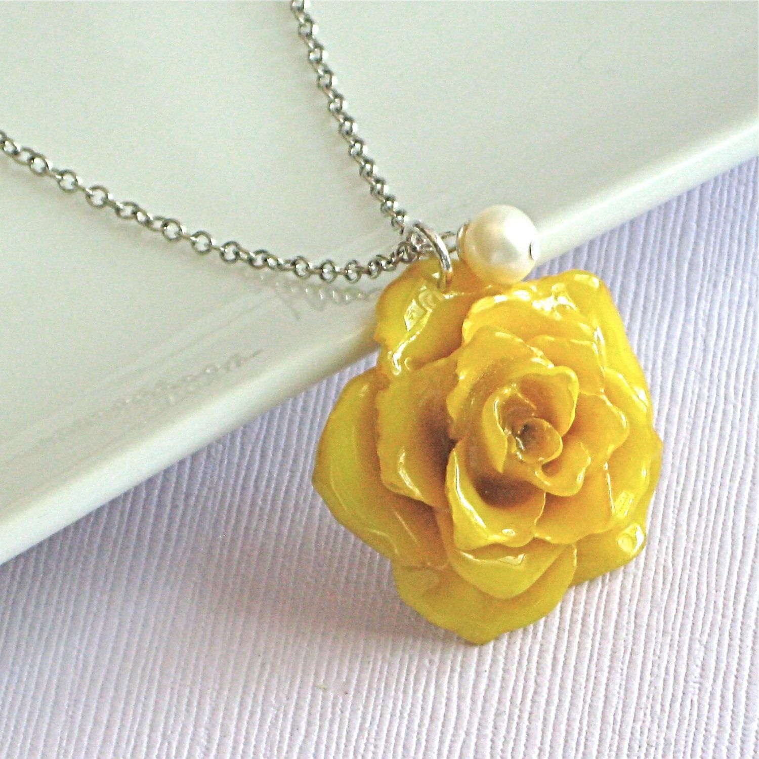 Real yellow rose necklace sterling silver natural preserved real yellow rose necklace sterling silver natural preserved flower jewelry nature jewelry nature necklace mightylinksfo Choice Image