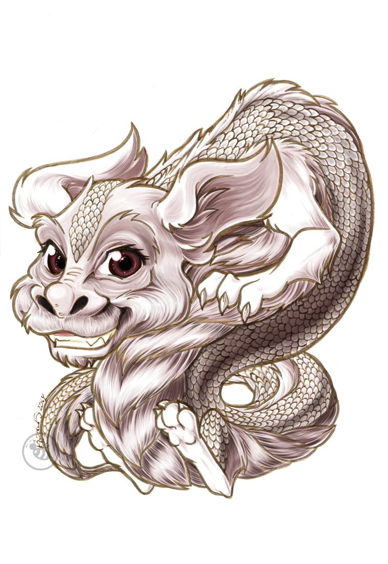 Chibi Falcor Finished Paints By Bee Chan On Deviantart Story Tattoo Art The Neverending Story