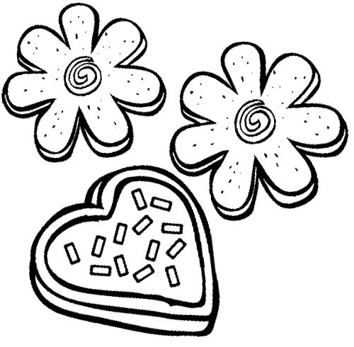 Sugar Cookies Coloring Page With Images Online Coloring Pages