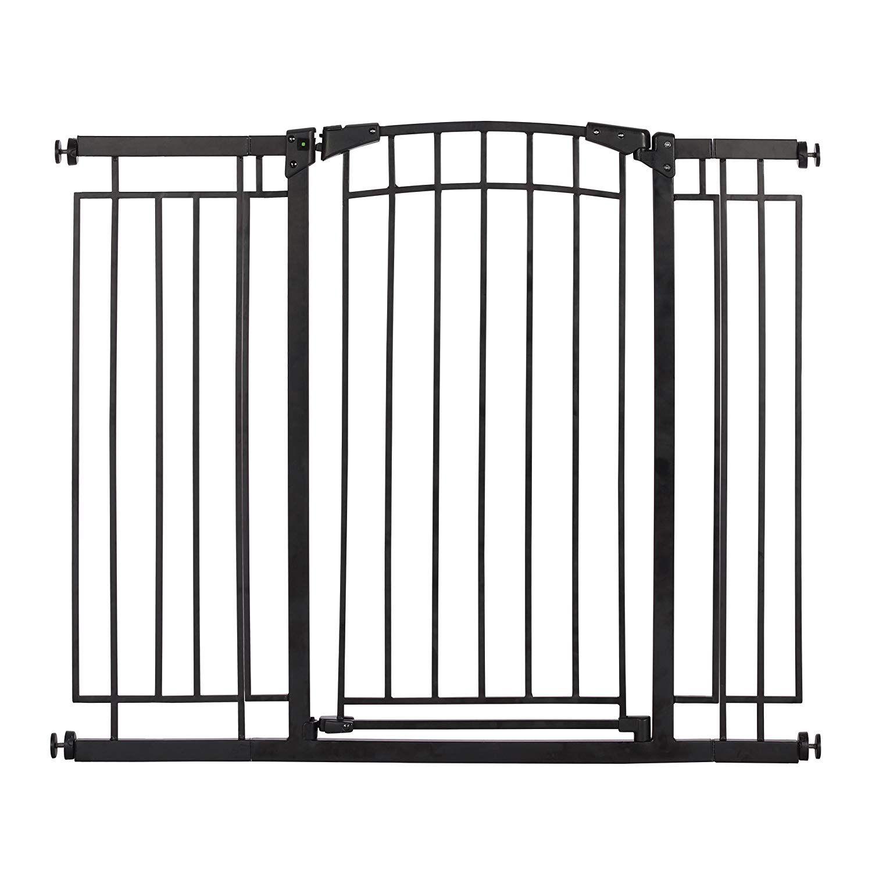 Evenflo MultiUse Decor Tall WalkThru Gate, Black Metal