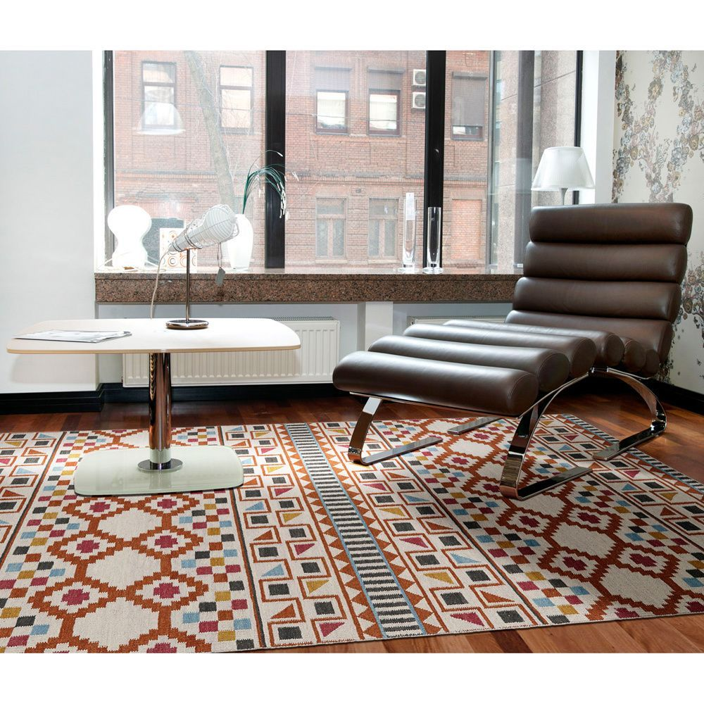 Bombay Home Flatweave Tribeca Paprikal Wool Rug 8 0 X 8 0 Square