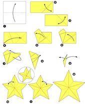 Photo of Fünf-Sterne-Sterne-Origami-Diagramm – DIY-Papier-Blog