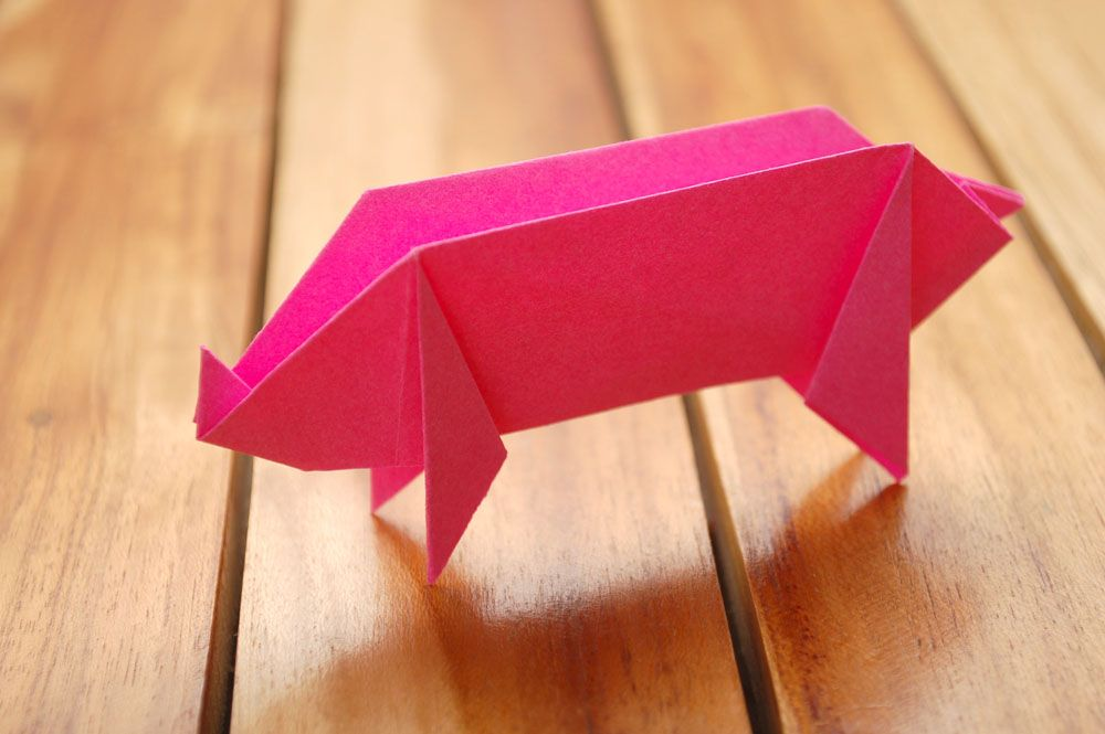 How to Make an Origami Pig while your internet is down via www.wikiHow.com