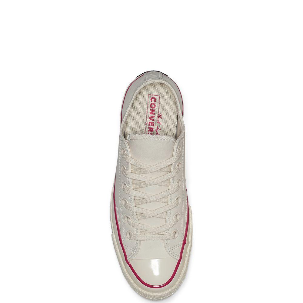444a4016e0106c Converse Chuck 70 Seasonal Leather Colour Low Top Natural Ivory Pink Pop  Black