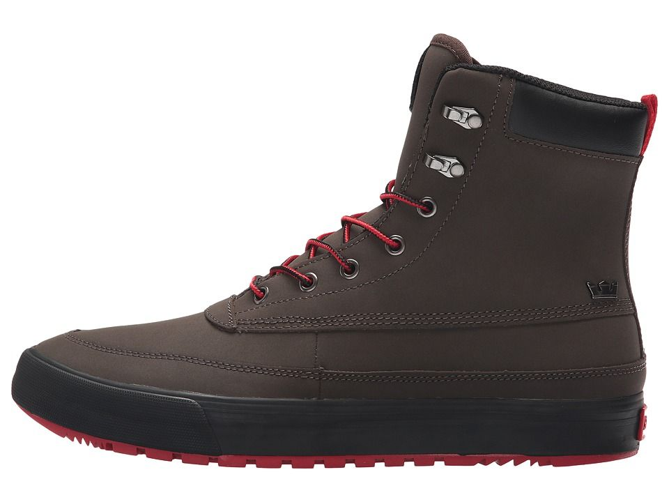 f1ed90b38af5 Supra Oakwood Men s Lace-up Boots Demitasse Gunmetal Red Black ...