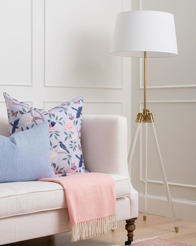 Caitlin wilson textiles rugs pillows wallpaper and home  cor also pastel living room couch lamp livingroom