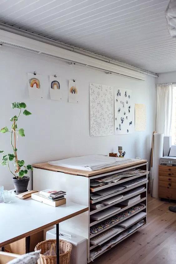 15 Stunning Office & Craft Room Organization Ideas // #studio #office // Organization ideas, craft room, studio organization