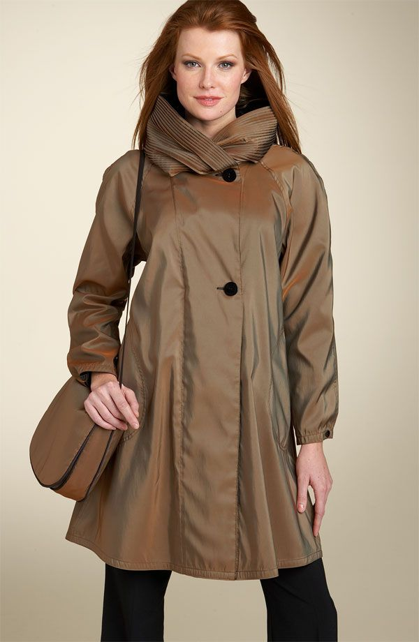 I love this rain coat with the cool collar that turns into a hood ...