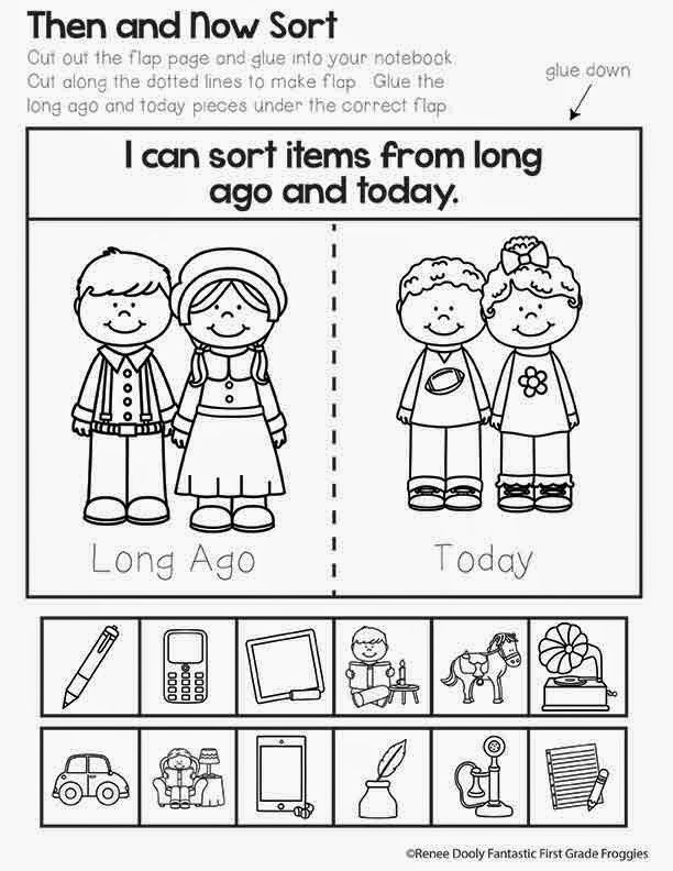 Printable Worksheets thanksgiving first grade worksheets : Now and Then Freebie | Thanksgiving, Social studies and Nice