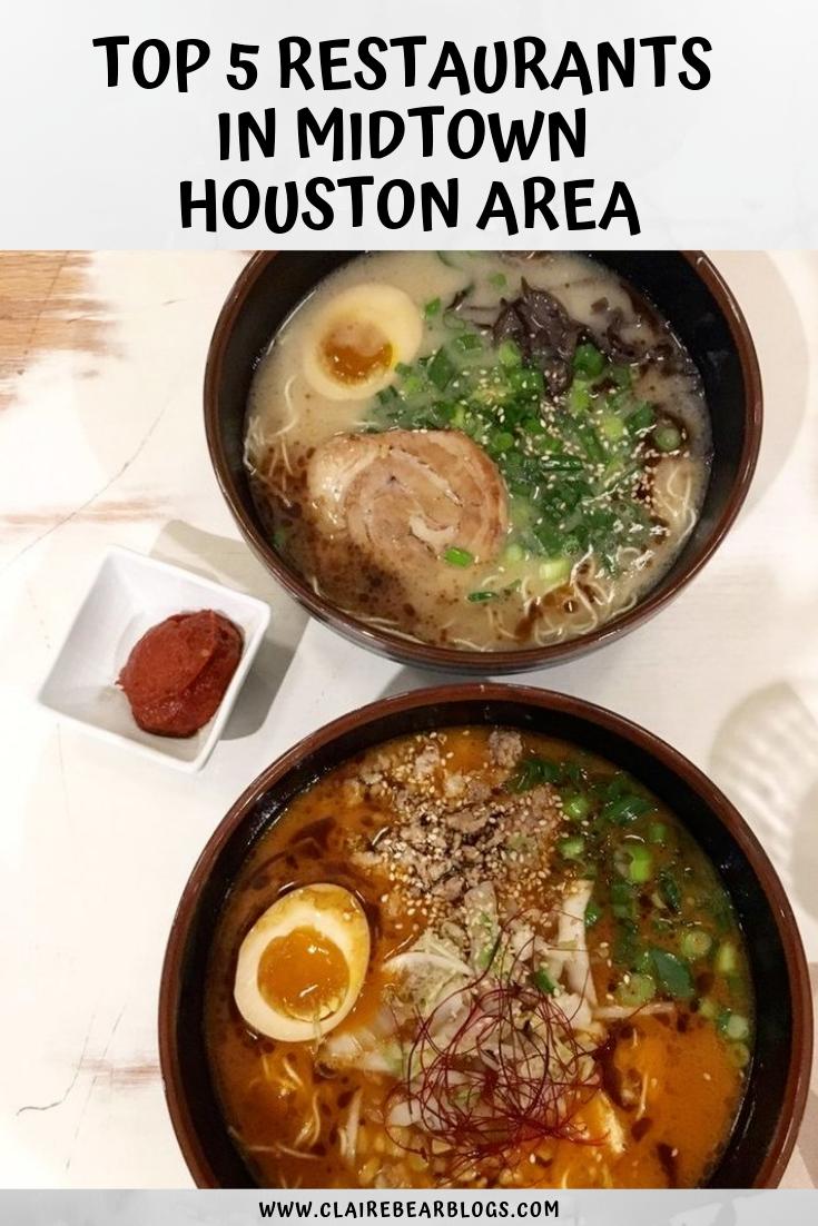 Top 5 Restaurants In Houston Midtown Area
