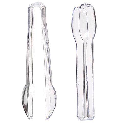 "6½"" Clear Plastic Serving Tongs, 4-ct. Packs"