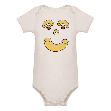 Noodle Face Organic Baby Bodysuit