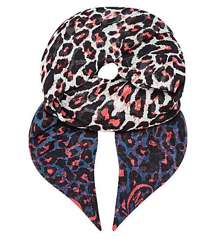 MCQ ALEXANDER MCQUEEN Animal-print scarf (Rose