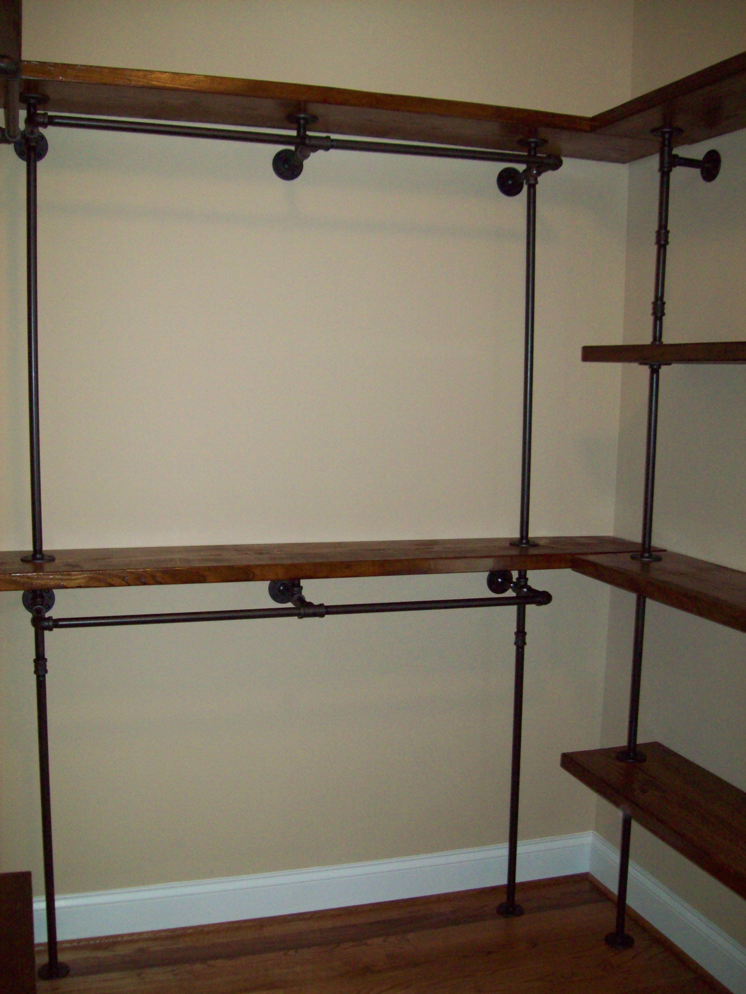 Metal Closet Black Pipe Closet Black Pipe Furniture Pinterest