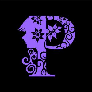 Flower Clipart Purple Alphabet P With Black Background Download Free Flower Clipart Designs Gallery Web Arts Flower Clipart Free Flower Clipart Clip Art