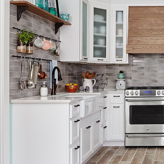 are white kitchen cabinets easy to maintain at the of this kitchen is a modern farmhouse feeling 10725