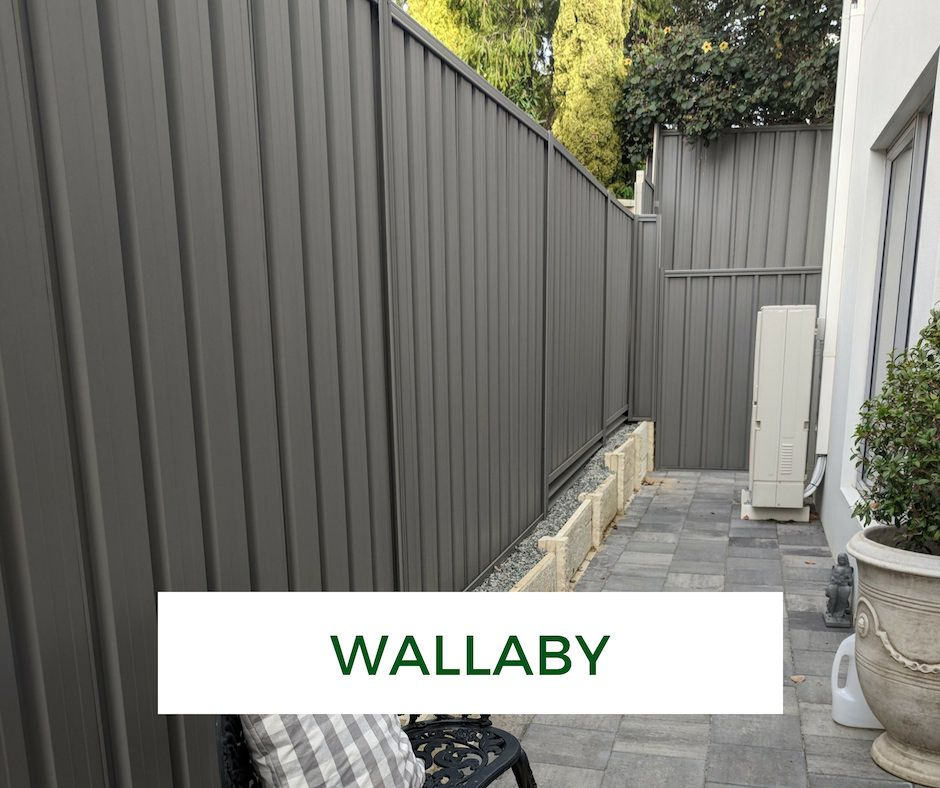 Colorbond Fence Makeover Wallaby Fence Paint Fence Paint Colours Painted Wood Fence