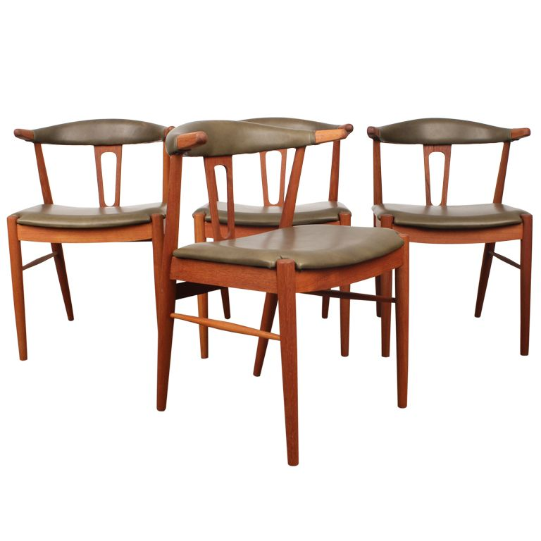 Brilliant Rare Danish Mid Century Modern Teak Dining Chairs Chairs Bralicious Painted Fabric Chair Ideas Braliciousco