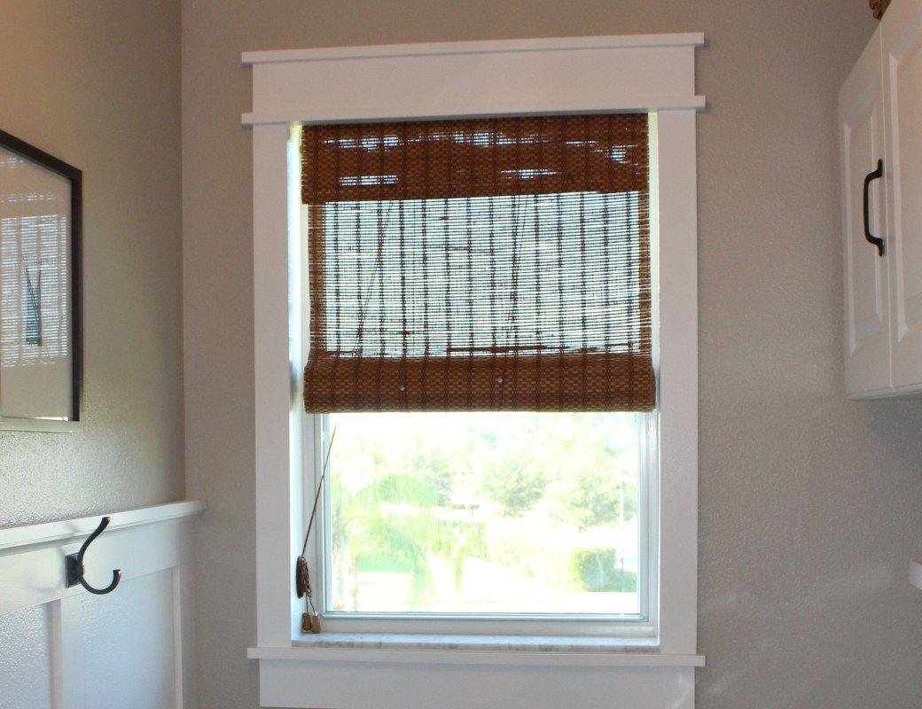 Window casing ideas  diy window frame  窓  pinterest  faux wainscoting window frames