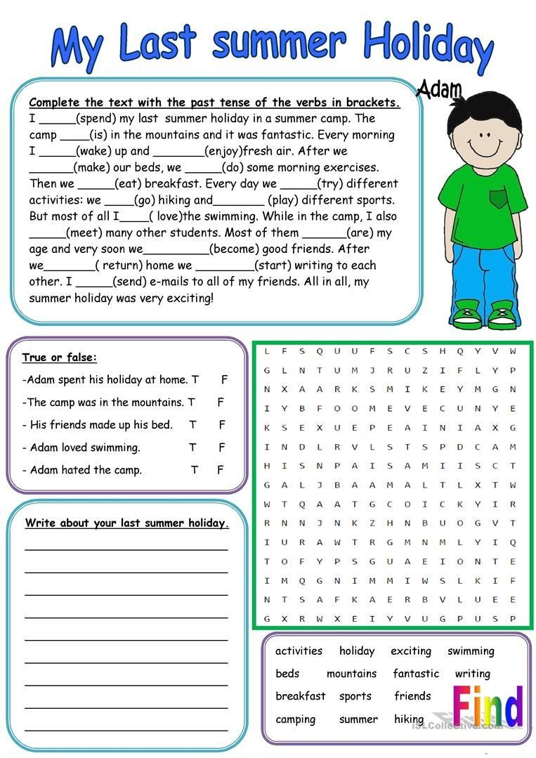 Holiday Reading Comprehension Worksheets Free My Last