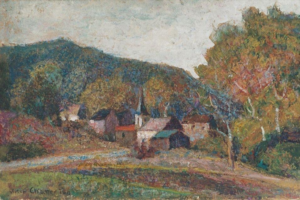 Sleepy Village - Victor Charreton (1864-1936)