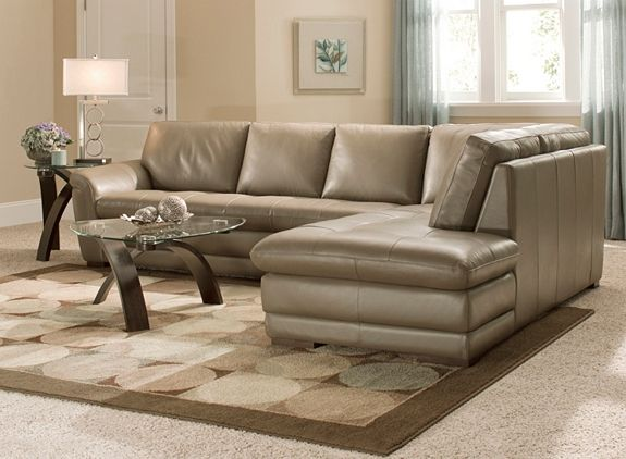 Garrison 2 Pc Leather Sectional Sofa Sectional Sofas Raymour