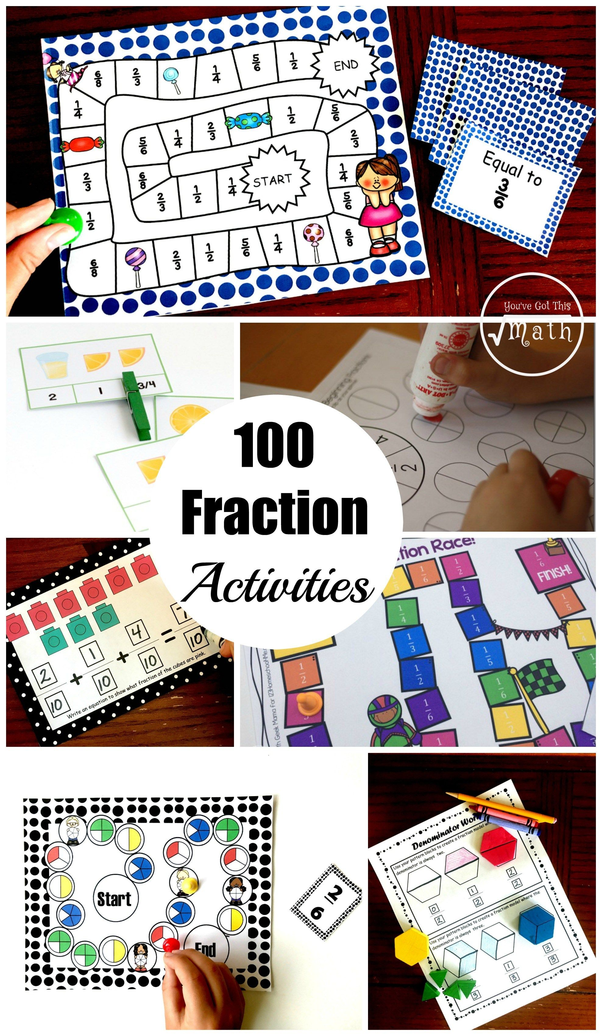100 Fraction Activities To Help Your Students Master