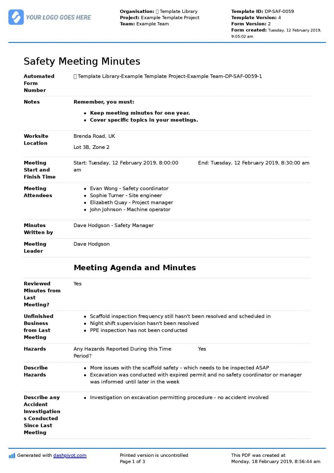 Free Minuets Of Meeting Colonarsd7 Throughout Committee Safety Committee Meeting Agenda Temp Meeting Agenda Template Agenda Template Meeting Notes Template Examples of meeting minutes template