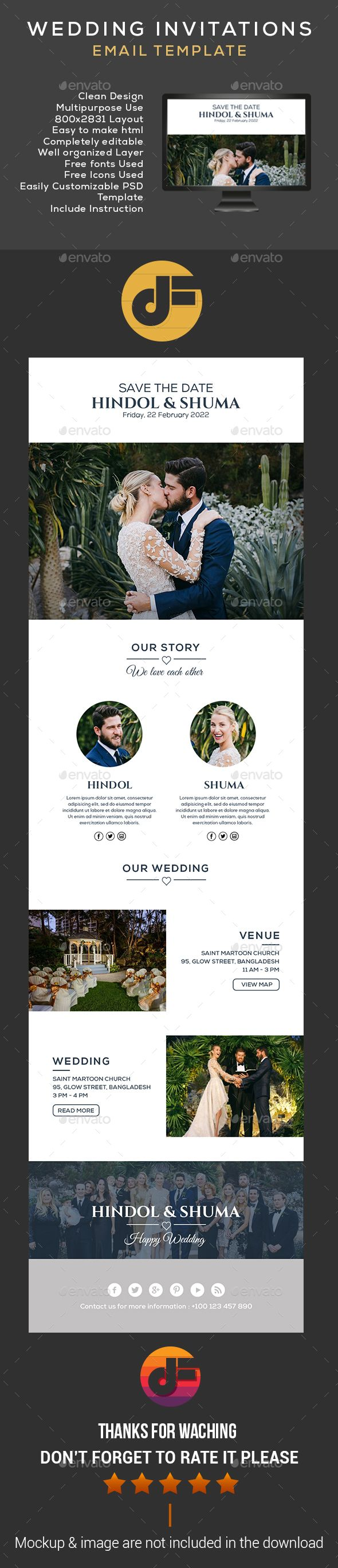 Wedding invitation email template template weddings and wedding invitation email template psd download here httpgraphicriveritemwedding invitation email template 16196531refksioks stopboris Image collections