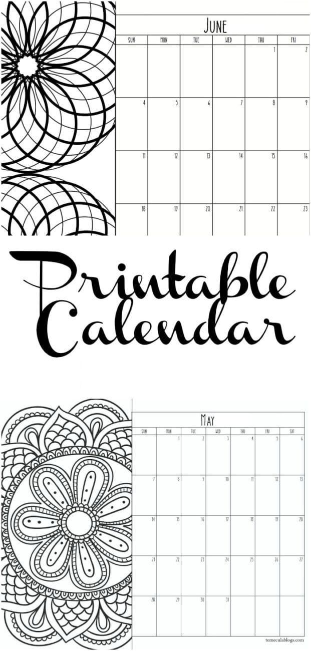 Printable Calendar Pages For Every Year Print One Month At A Time