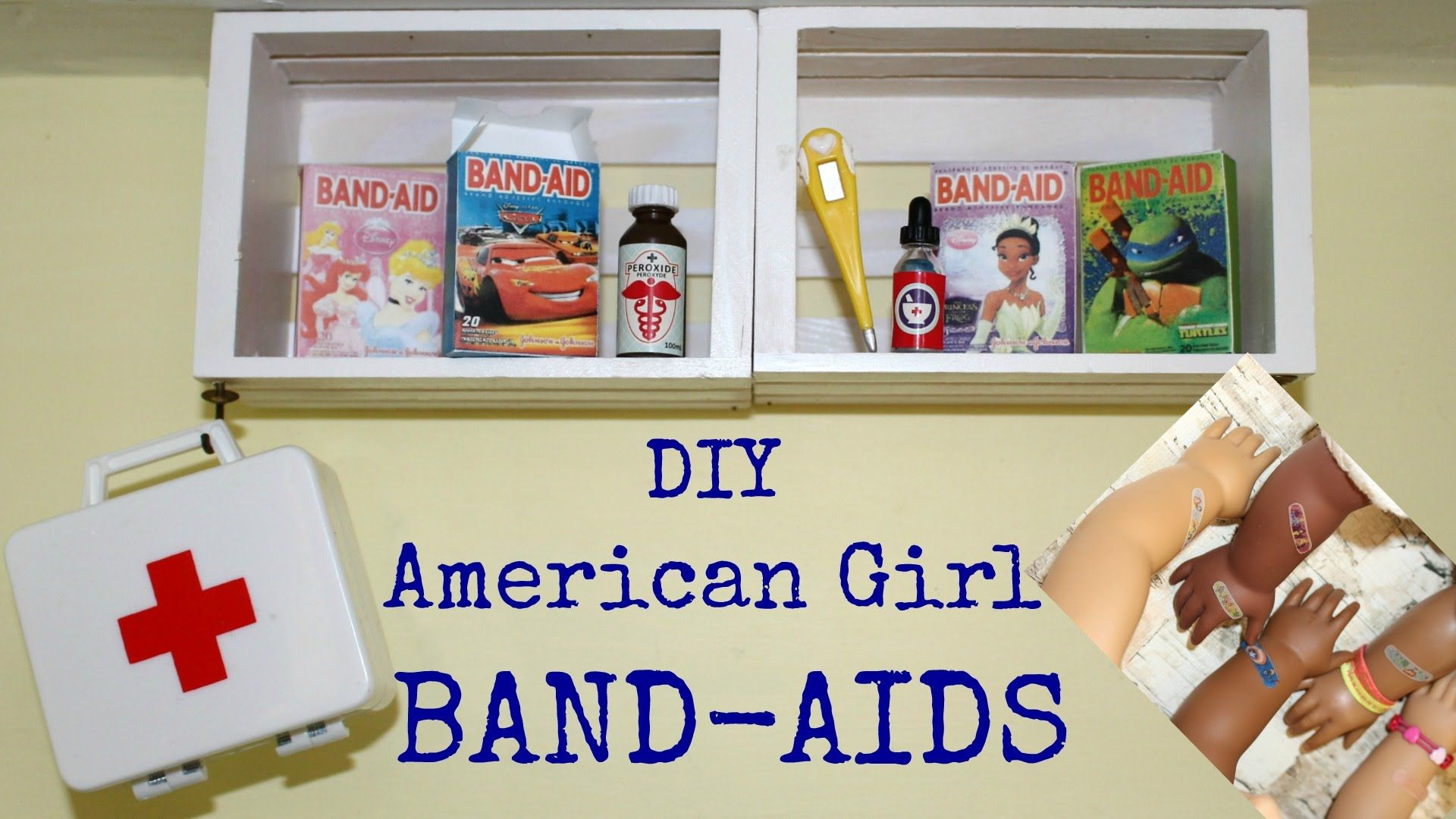 Diy american girl doll band aids diy american girl for American girl crafts diy