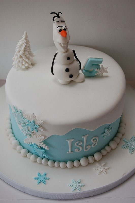 FrozenOlaf Birthday Cake Disney frozen cake Disney frozen and Cake