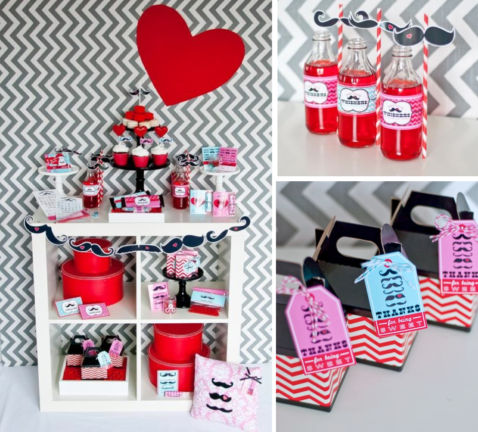 mustache themed valentines party mrs mr via karas party ideas mustache valentines mustache birthday - Valentine Birthday Party Ideas