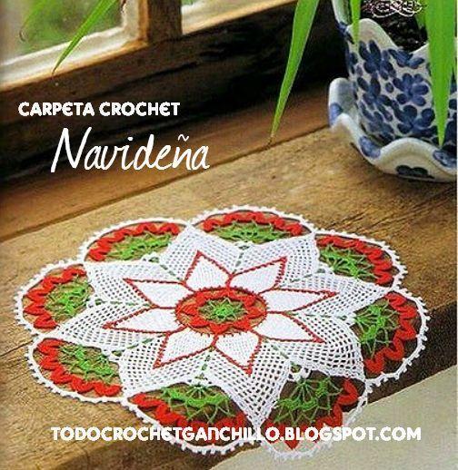 Patrones de carpeta crochet tejido de gancho - Adornos navidenos ganchillo patrones ...