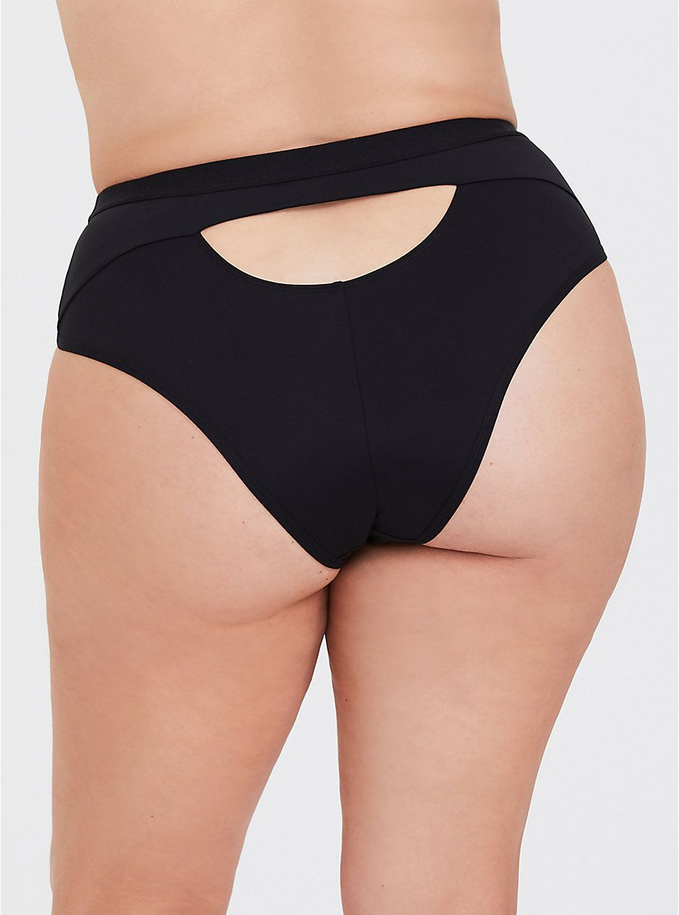 b3a2aab0e Microfiber High Waist High-Leg Panty in Black in 2019