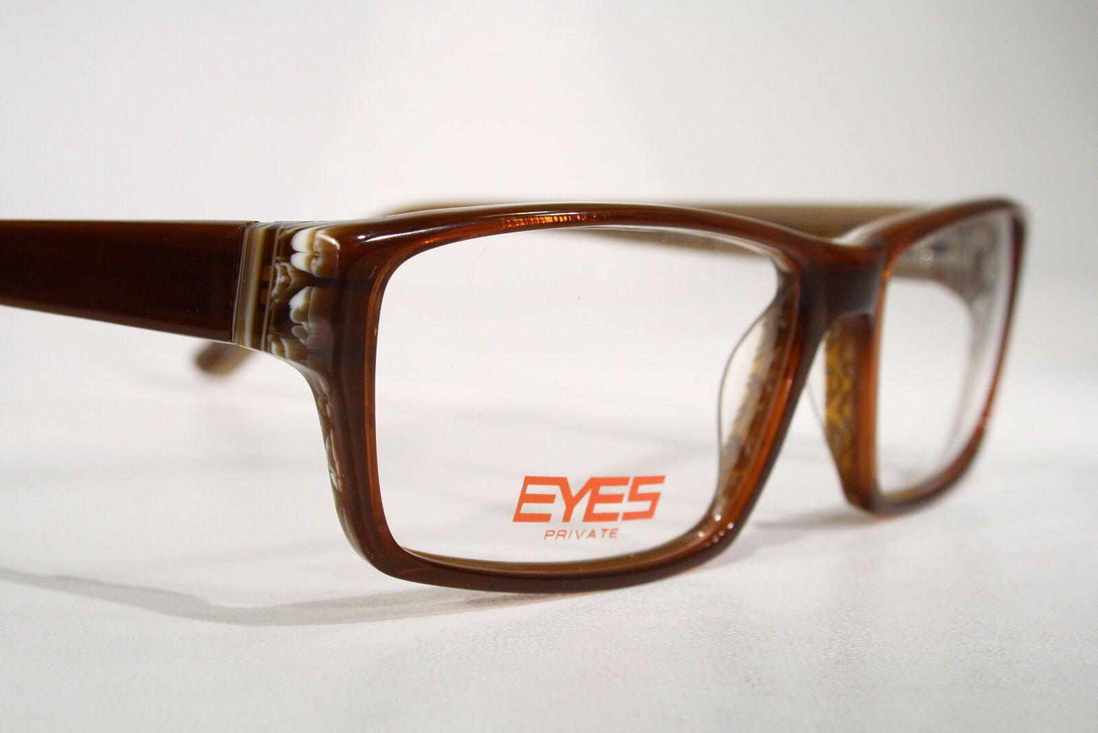 3538868a6f3 Unisex New PRIVATE EYES Brown Plastic Eyeglasses Optical Frames Glasses    eBay (RipVanW)