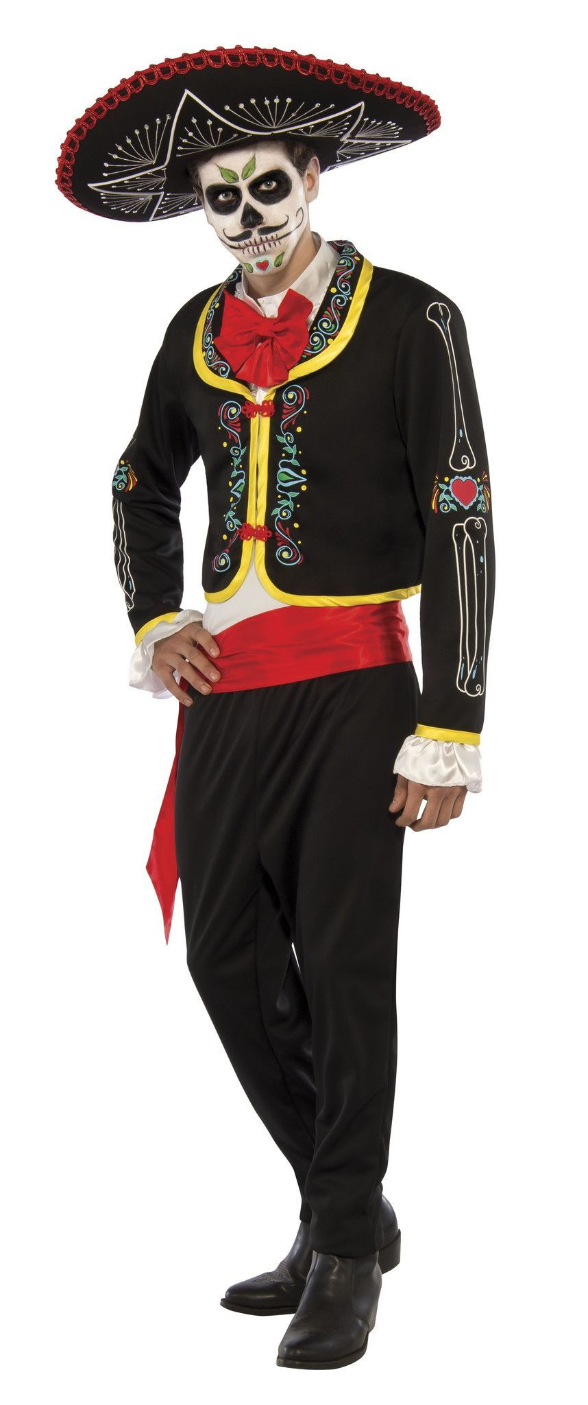 Day of the Dead Men's Costume Day of dead costume, Day