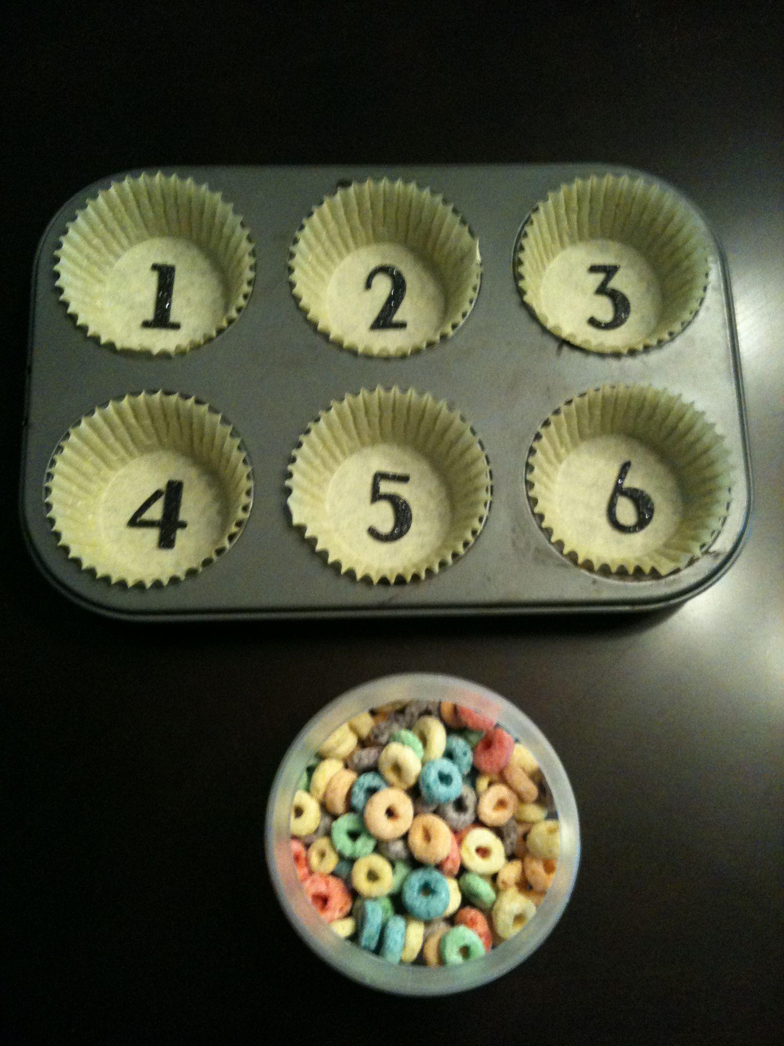 Fruit Loop Counting Game (With images) Numbers preschool