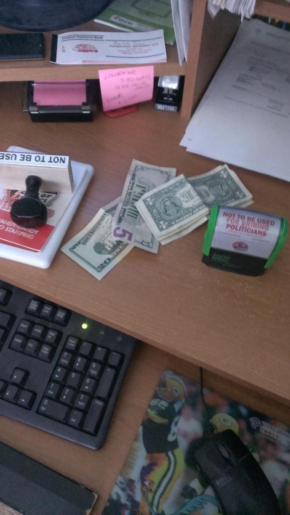 "Twitter   ""All set to stamp money. #StampStampede"""