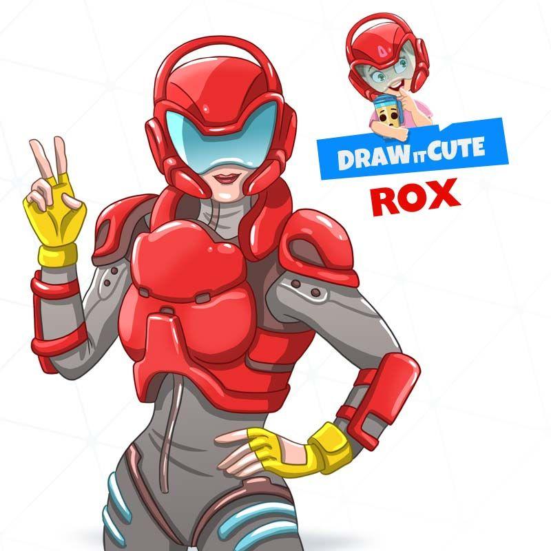 Rox Season 9 Skin Draw It Cute Fortnite Fortnitebattleroyale