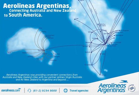 aerolineas argentinas route map Aerolineas Argentinas Route Map Australia Argentina Aerolineas aerolineas argentinas route map