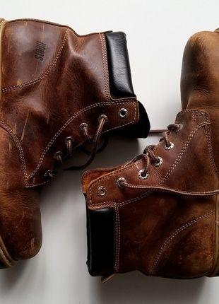 Buty Zimowe Roots Skorzane 43 44 Ocieplane Timberland Shoes Boots Wedge Boot